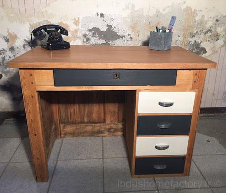 bureau vintage relooke