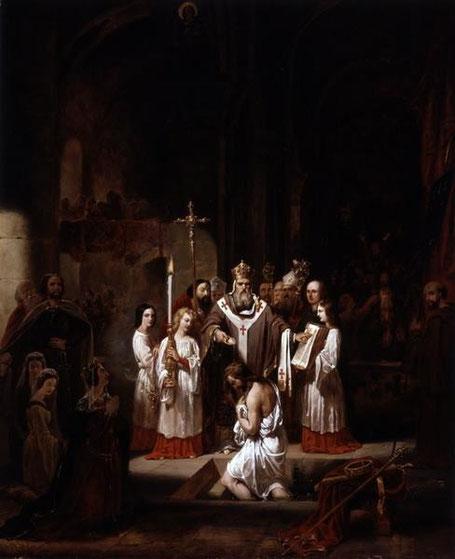LACAZE Théophile, Le baptême de Clovis
