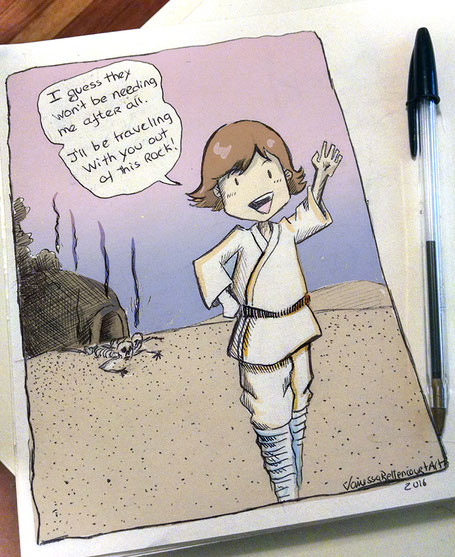 starwars luke skywalker fanart comics cartoon meme funny episode 4 IV