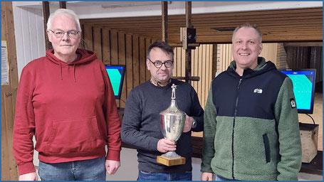 2019: Gerhard Hardtke, Schiessoffizier Harald Grote und  Sieger Jörg Hirschfeld