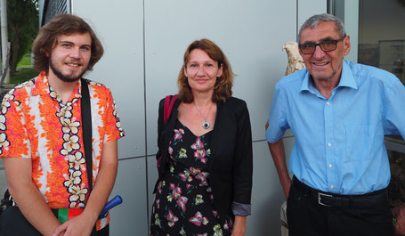 Die Grünen GemeinderätInnen Philipp Rotman, Sabine Sill, Helmuth Binder   (v.l.)