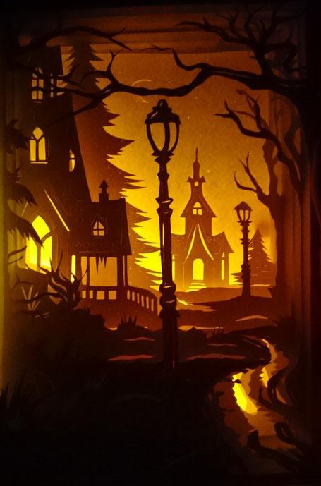 #engelwerkstattgrafenau #papierschnittlichtbox #shadowlightbox #papercut #scherenschnittkunst #lichterauspapier #romantischeweihnachtsbilder #künstlerausderregionbayern #frg