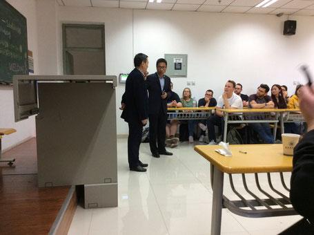 Prof. Zhang Li introduces Prof. Chen