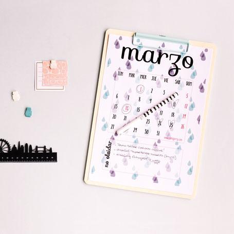 Freebies de calendario: MARZO by Sami Garra