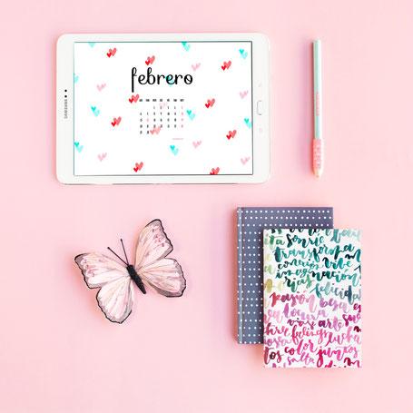 Freebies de calendario: FEBRERO by Sami Garra
