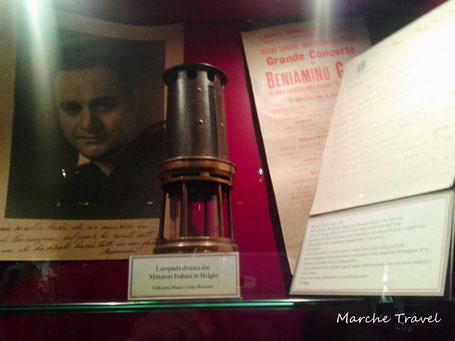 Doni dei minatori italiani in Belgio, Museo Beniamino Gigli, Recanati
