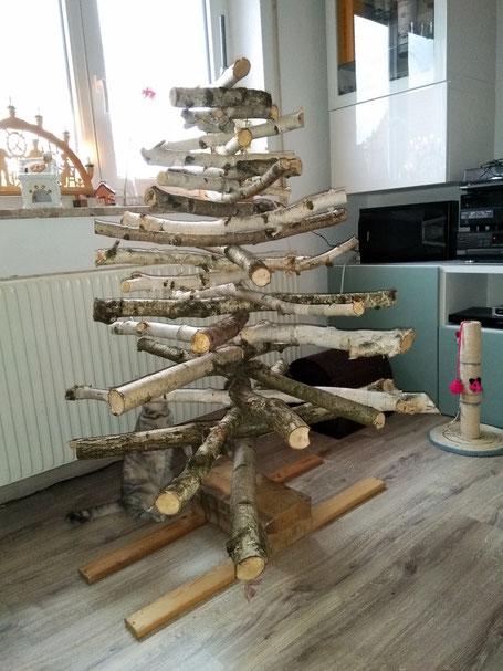 Weihnachtsbaum nachhaltig, Weihnachtsbaum selbst gebaut, Weihnachtsbaum DIY