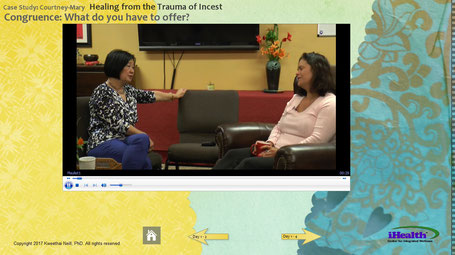 Screenshot of a video from Healing the Trauma of Incest