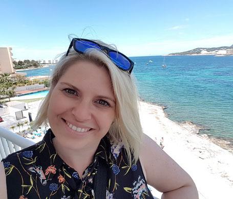 Katrin Relius auf Ibiza