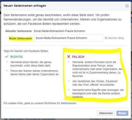 Den Namen Deiner Facebookseite ändern Horrortrip Oder Kein