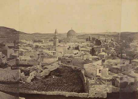 Othon Von Ostheim, panorama de Jérusalem (1850 - 1860)
