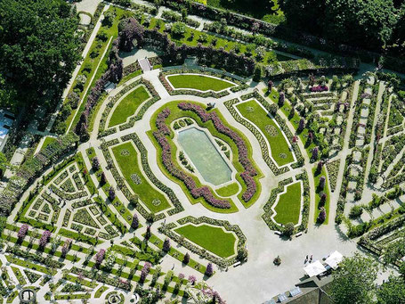 Vue aérienne de la Roseraie du Val-de-Marne