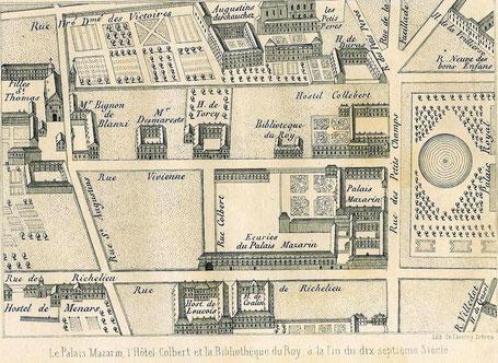Plan du quartier de l'Hôtel Mazarin où travailla activement l'Abbé Coupé