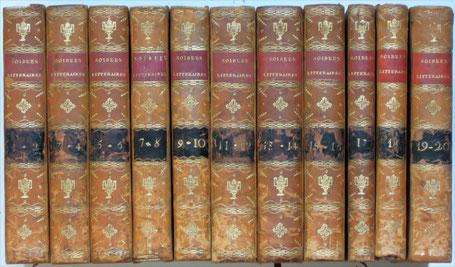 Les 20 volumes des Soirées Littéraires de l'Abbé Coupé