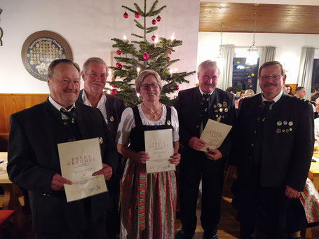 Pittner Erich, Heidl Korbinian, Lachner Hedwig, Pittner Anton, Haller Josef