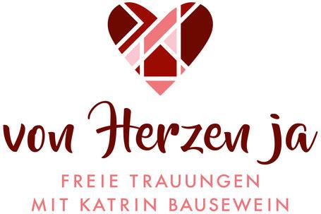 Logo von Herzen ja, freie Trauungen mit Katrin Bausewein