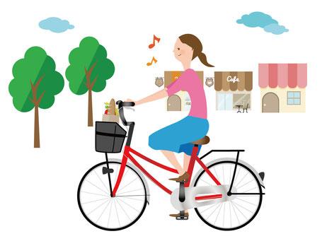 晴れたら自転車に乗ってお出掛けもイイですね♪