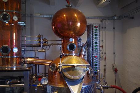 Blick auf den Helm unserer Destille