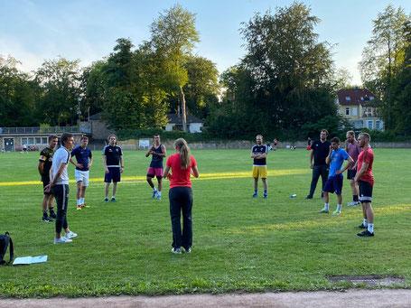 Petra Klein beim Athletiktraining in Solingen