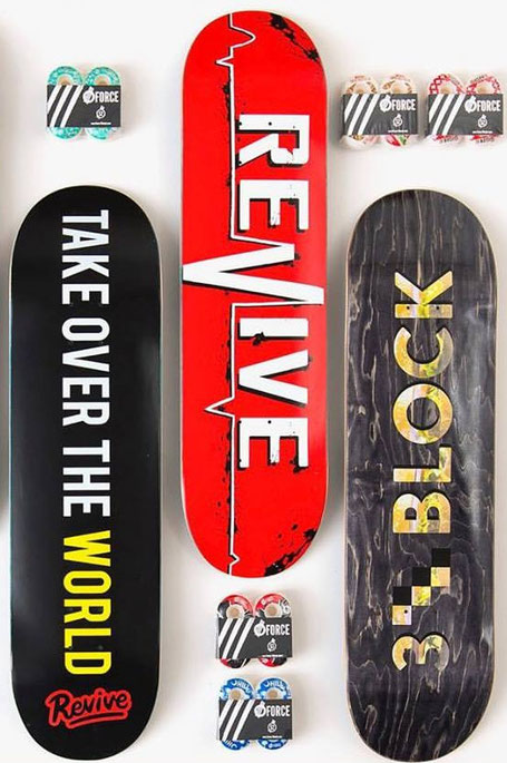 Kaufe Revive Skateboards, Force Wheels, 3Block Decks, Braille Skate Gear uvm in Deutschland, Österreich. Europaweiter Versand / VMS Distribution Europe - Revive Force 3Block Braille