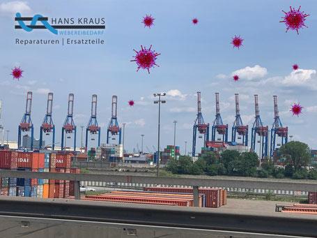 Hamburger Hafen Foto Robert Hussauf Textilbranche Frachtkosten Corona