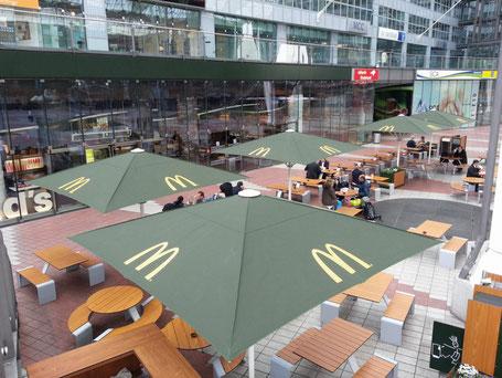 Sonnenschirme in Hanau für Gastronomie und Gewerbe, Kindergarten von FINK Sonnenschirme McDonalds Hanau