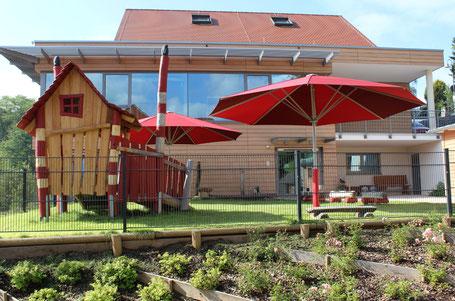 Sonnenschirme may ✅ Große Sonnenschirme für Kindergarten und Gastronome ✅ in 63683 Ortenberg HESSEN, may SCHATTELLO Kindergartenschirm