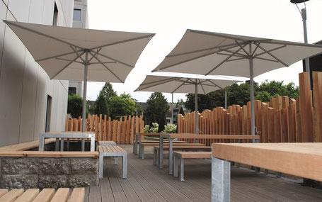Schirme für Kommunale Einrichtungen Stadtplanung ✅ mit may Sonnenschirmen SCHATTELLO nach DIN EN 1176