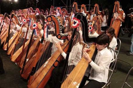 Der Marathon der Harfen in Villarrica
