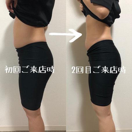 大阪下半身ダイエット専門整体サロン/1回と2回目の写真