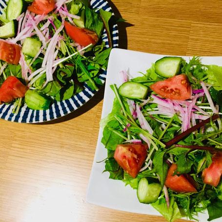 大阪下半身ダイエット専門整体サロン、葉物野菜サラダ