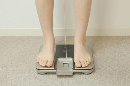 ダイエットの結果の出る人の写真測定中
