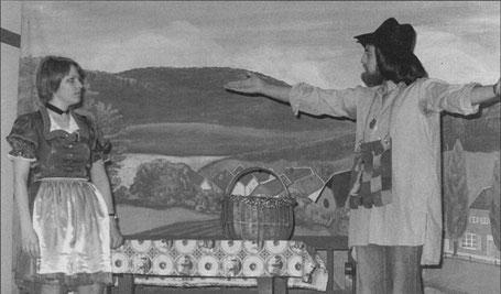 """Theater 1976 """"Hilfe ich liebe einen Gammler"""" mit Margit Sabel und Hans-Georg Schneider"""