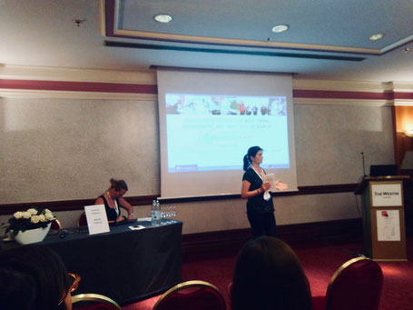 Mandy Velthuis (left) and Susanne Stephan (right) convening the Special Session at SEFS11 in Zagreb, Croatia.