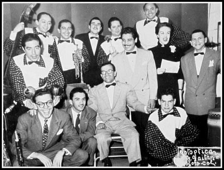 Daniel Santos y Don Américo,  Foto cortesía de Carlos Echeverri-Arias - 1953.