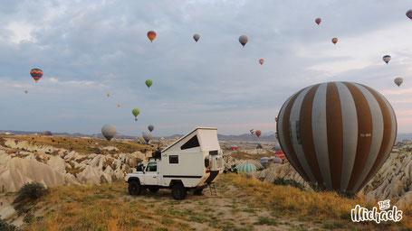 The Michaels, Ballon Kappadokien, Camping, Seidenstrasse