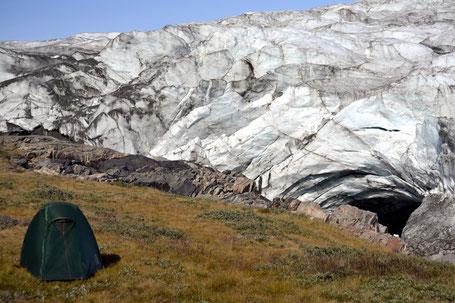Kangerlussuaq, Zelten am Russell Glacier