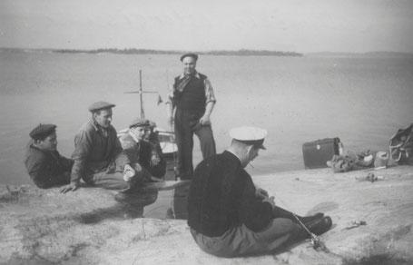Tonttikaupoilla Maskinamossa 1953