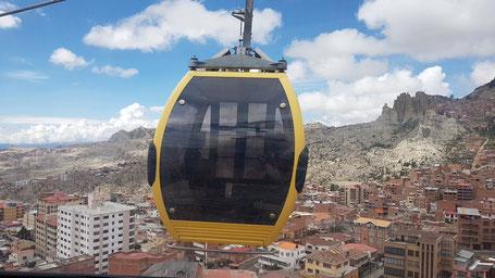 Le téléférique de La Paz en Bolivie