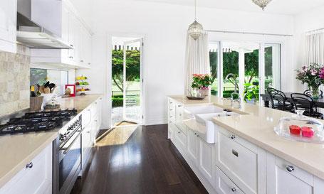 cuisine propre nettoyée rangée