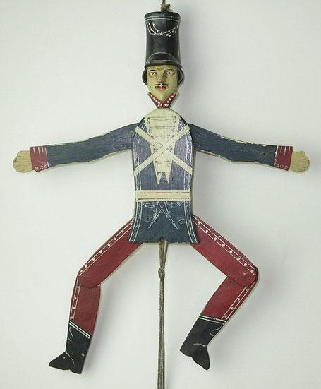 19th century folk art jumping jack from barbaraleighantiquefolkart.co.uk