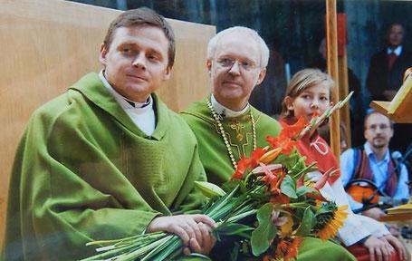 Pfarrmoderator Pelc mit Bischofsvikar Rühringer