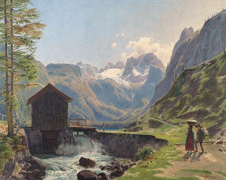 Der Dachstein im Salzkammergut von Rudolf von Alt Foto: Albertina Wien