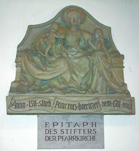 Das Epitaph ist eine der ältesten Bildquellen des 14. Bezirkes.