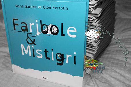 L'illustratrice Cloé Perrotin et l'auteur Marie Garnier vous annoncent la sortie du livre jeunesse Faribole et Mistigri avec ce petit photomontage