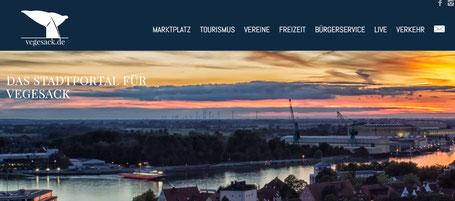 "Webseite ""Vegesack.de - das Stadtportal für Vegesack"""