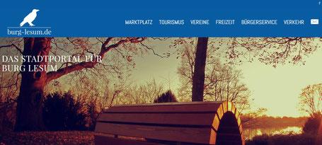 """Webseite """"Burg-Lesum.de - das Stadtportal für Burg-Lesum"""""""