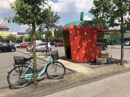 Erdbeerfest in Bremen-Habenhausen - Erdbeere am Werder-Karree