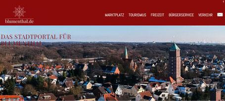 """Webseite """"Blumenthal.de - das Stadtportal für Blumenthal"""""""