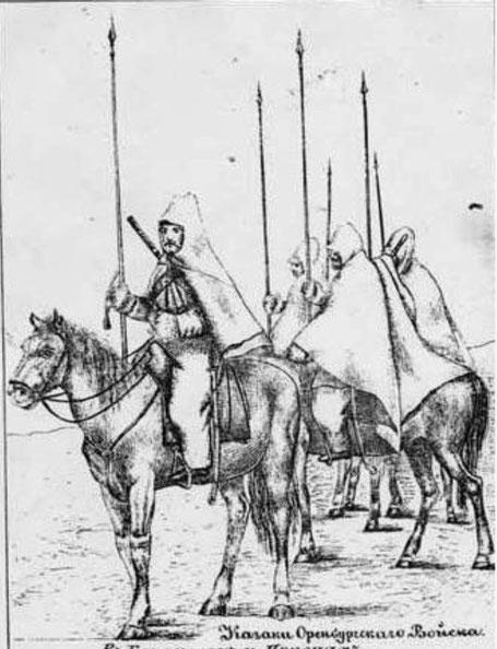 cosaques orenburg bashkir nomade cape cosaque lance cheval